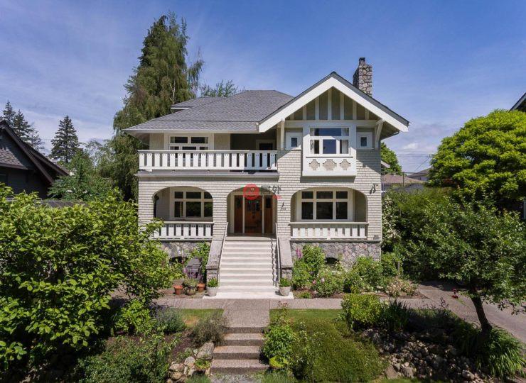加拿大不列颠哥伦比亚省温哥华6卧的别墅河房产浐到图片