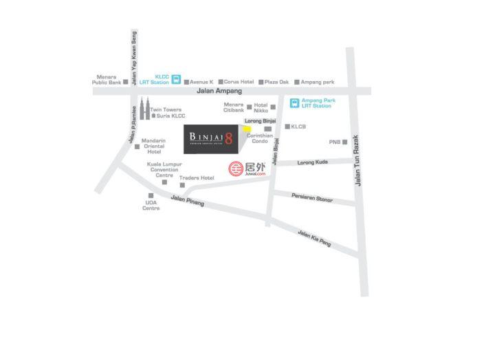 马来西亚Wilayah PersekutuanKuala Lumpur的公寓,Binjai 8 KLCC,编号52434597