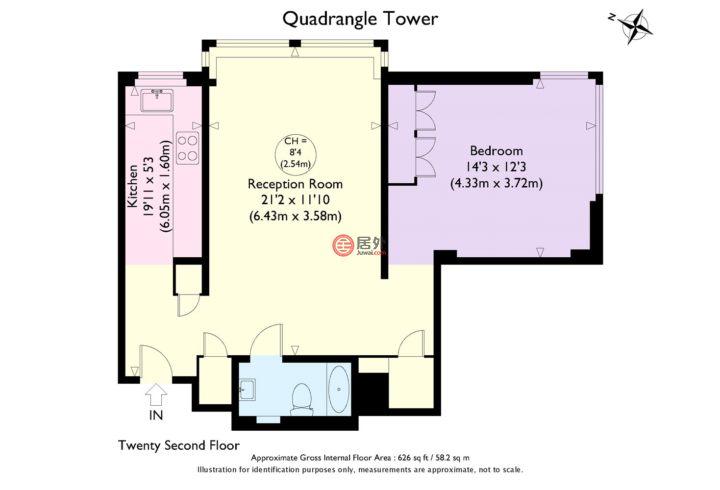 英国英格兰伦敦的房产,Cambridge Square,编号43107157