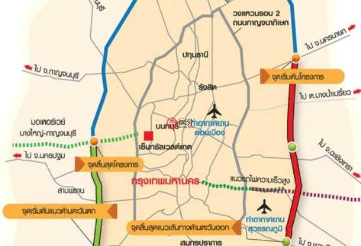 泰国北碧府Si Sawat的土地,Highway No.3199,编号47320987