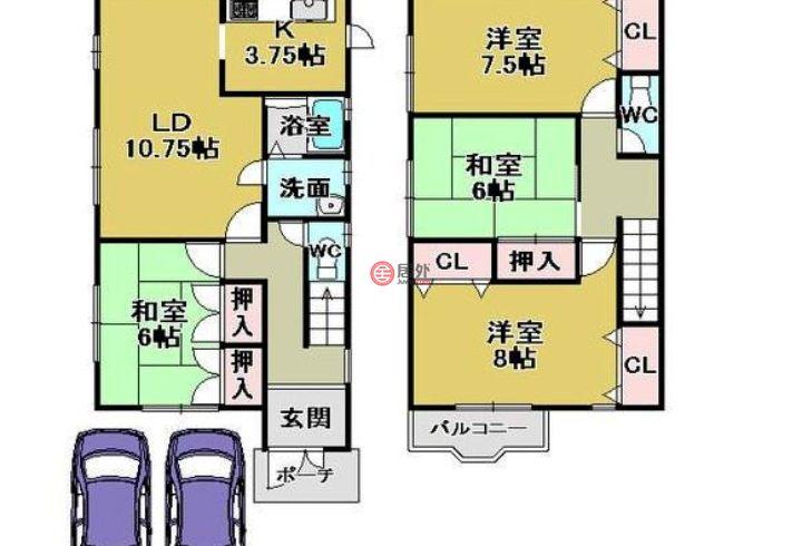 日本的房产,京都市右京区梅ケ畑清水町22-3,编号45549893