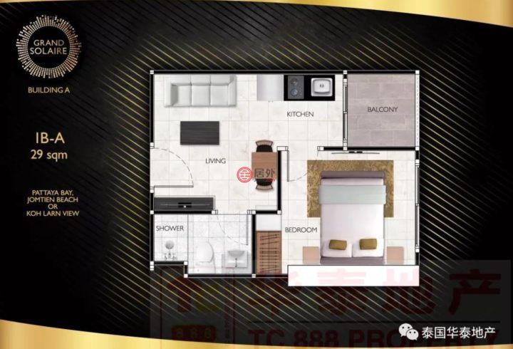 泰国春武里府芭堤雅的房产,编号47286538