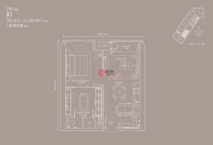 马来西亚Wilayah PersekutuanKuala Lumpur的房产,编号45238911