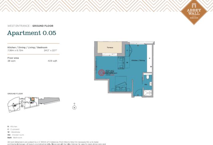 英国英格兰伦敦的公寓,Abbey Wall, Wimbledon,编号60194341