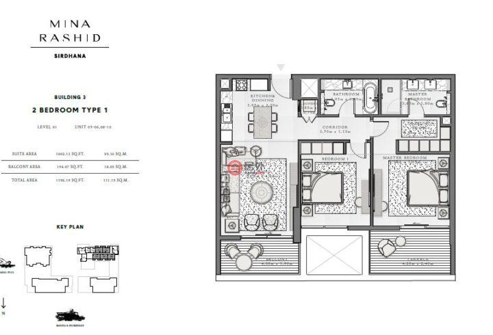 阿联酋迪拜迪拜的房产,拉希德港,编号54980343