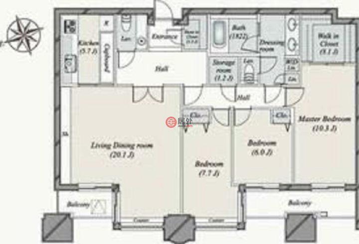 日本JapanTokyo的房产,東京都渋谷区渋谷1-19-18,编号53313845