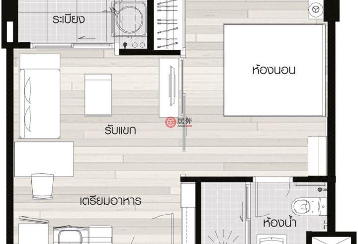 泰国清迈府清迈的房产,清迈The North Condo,编号36958880