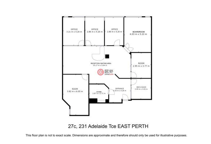 澳大利亚西澳大利亚州珀斯的商业地产,27C/231 ADELAIDE Terrace,编号55469897